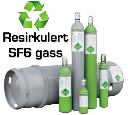 SF6 resirkulert gass